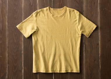 草木染め吊り編みTシャツ